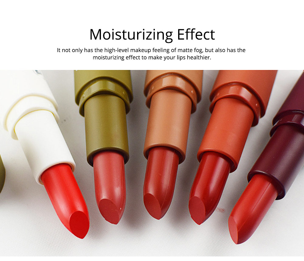 5Pcs Muscat Velvet Matte Lipstick Suit for Female Girl Lady Student Makeup Lipstick Suit With Exquisite Gift Box 5