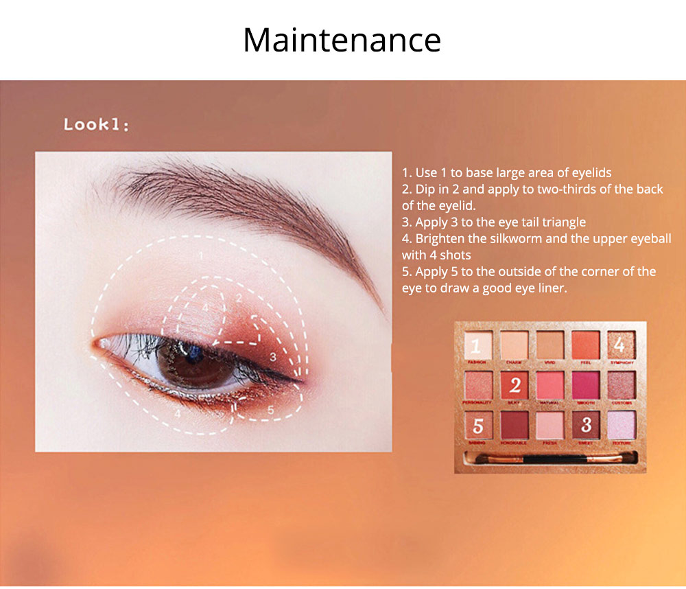Cosmetics 15 Color Eye Shadow Plate Ins Red Man Or Tictok Recommended Eye Shadow Makeup For Beginners 9