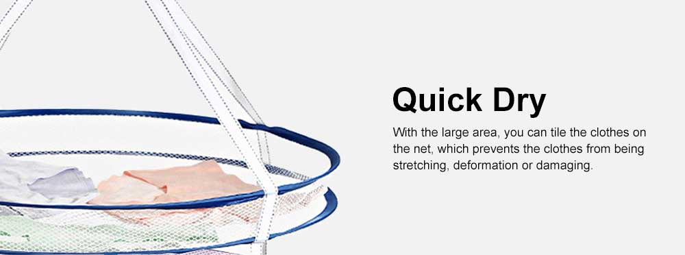 Foldable Drying Basket Hanging Net Retractable Drying Rack for Clothes, Underwear, Bra, Socks, Sweaters, Single, Double-Layer Drying Basket Net 5
