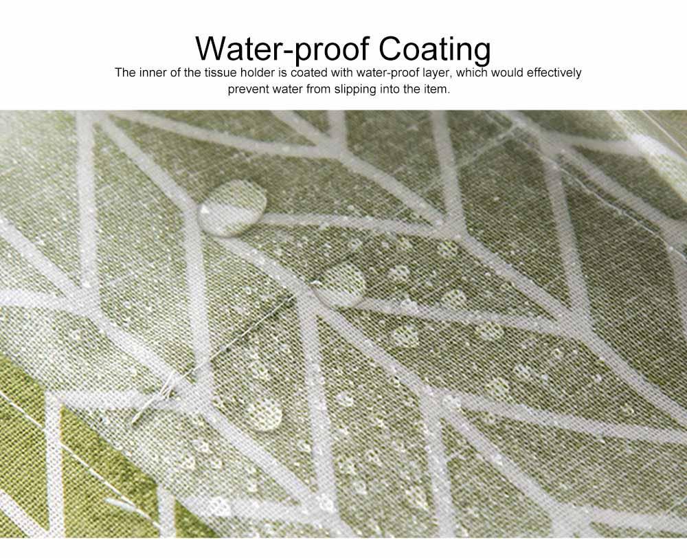 Minimalist Functional Geometric Pattern Tissue Box Cover, Waterproof Wearable Cotton Linen Facial Paper Organizer Holder 2