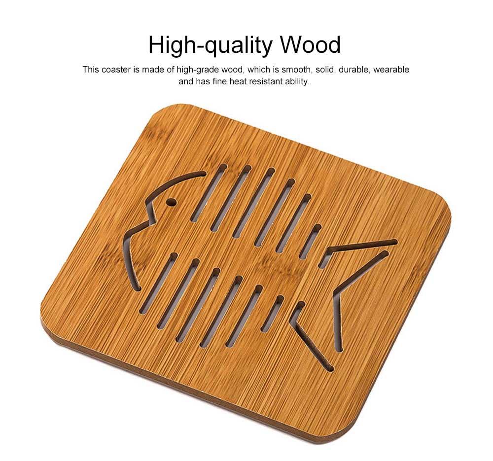 Delicate Creative Carton Hollow Wooden Coaster Thicken Anti-scalding Drink Tea Coffee Cup Mat Tableware 1