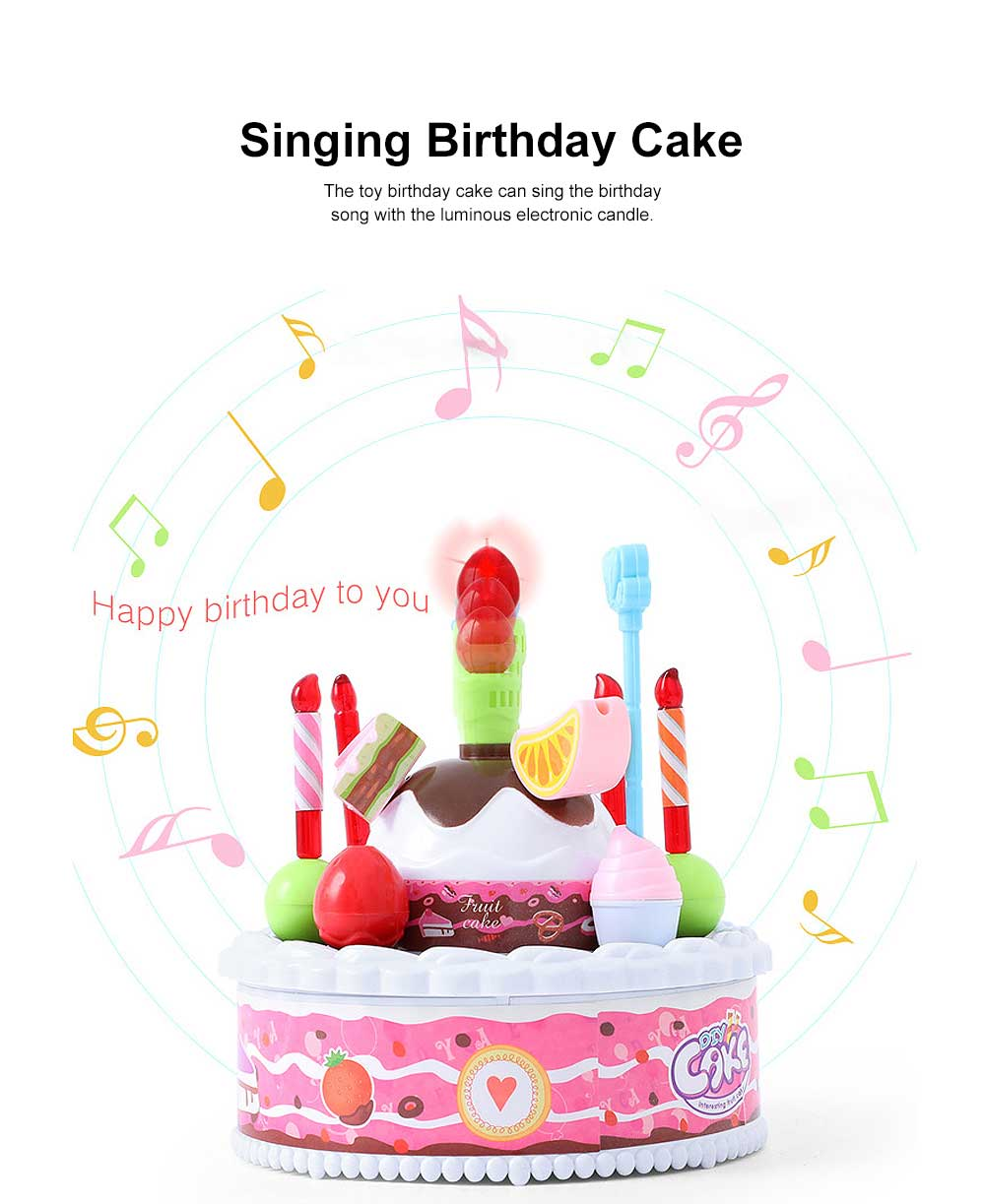 Birthday Cake Toy for Children & Kids, DIY Birthday Cake Model with Sound Recorder Function Birthday Present Gift 2