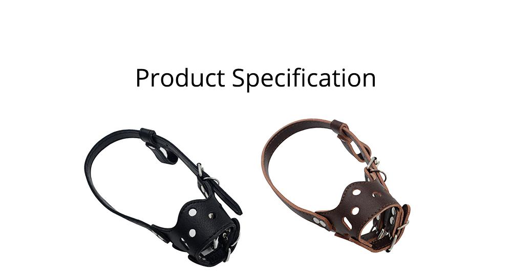Adjustable Pet Dog Masks PU Leather Dog bark arrester Dog Stop Barking Bite-proof Cover 6