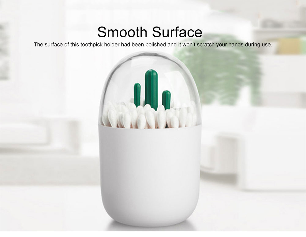 Creative Functional Animal Model Toothpick Holder, Tough ABS PS Delicate Fancy Cotton Swab Storage Box 5