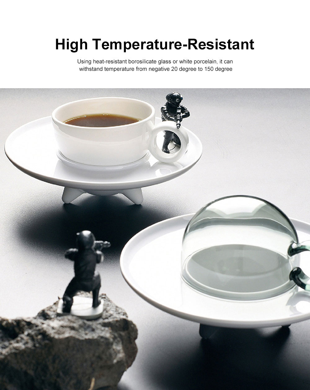 UFO Shape Water Cup Set Innovative Safe Borosilicate Glass Mug Coffee Cup Birthday Gift Daily Use 3