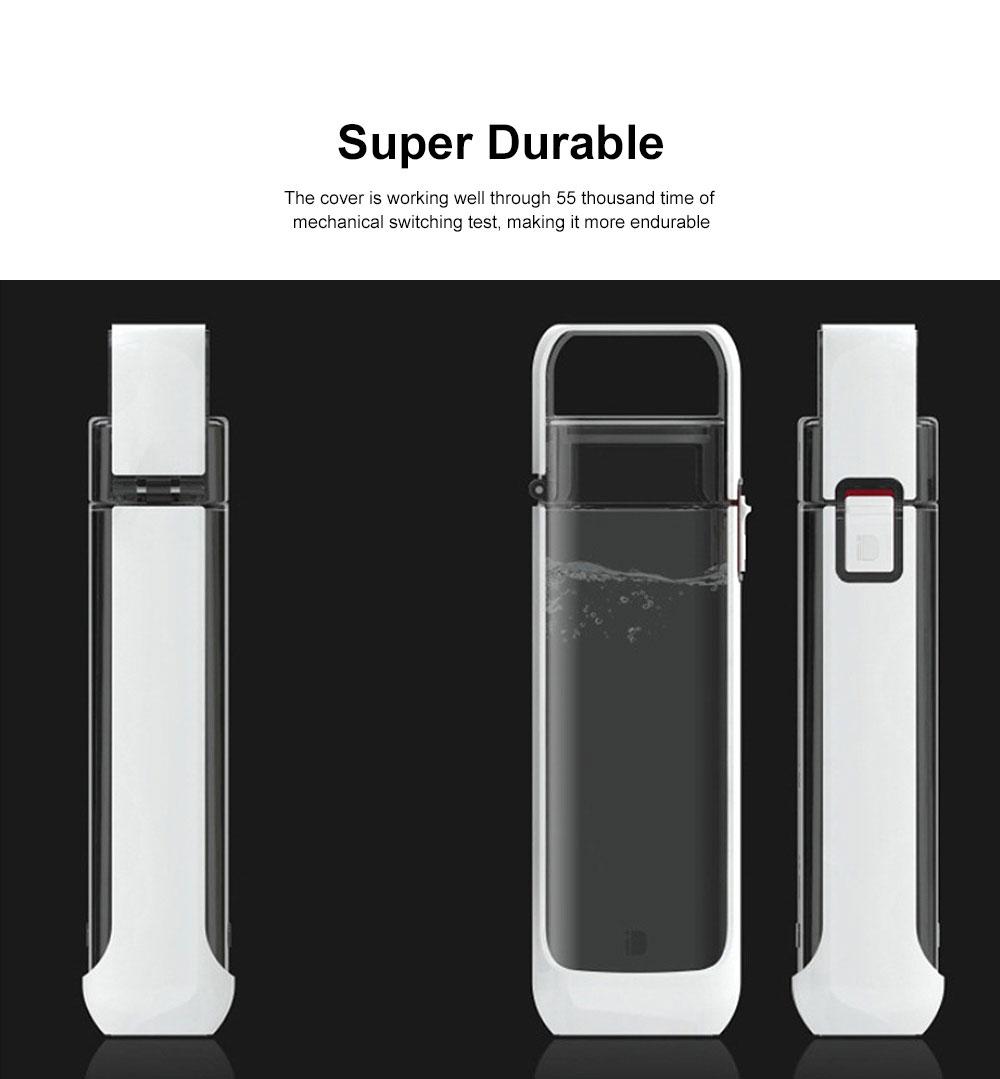 Portable Creative Transparent Water Bottle for Running Walking Hiking, Food Grade BPA Free PC Multifunctional Hand Bottle 4