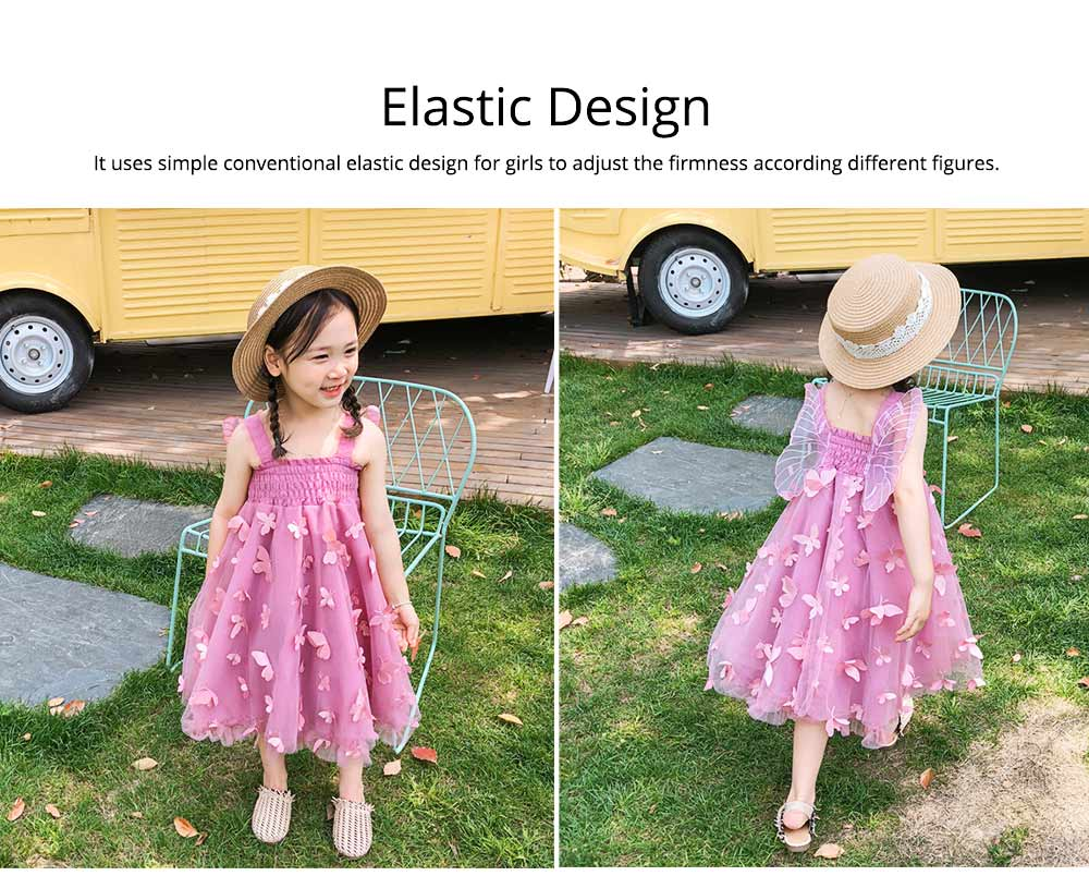 2019 Three-dimensional Lace Butterfly Dress for Girl Summer Party Dress Performance Costume & Butterfly Wings 4