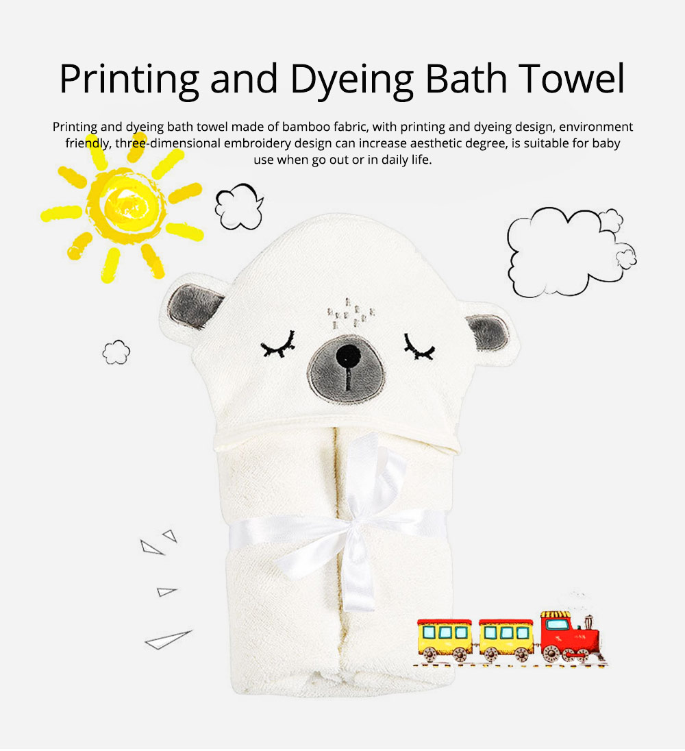 Printing and Dyeing Bath Towel for Baby, Environment Friendly Multi-function Three-dimensional Embroidery Bathroom Ware 0
