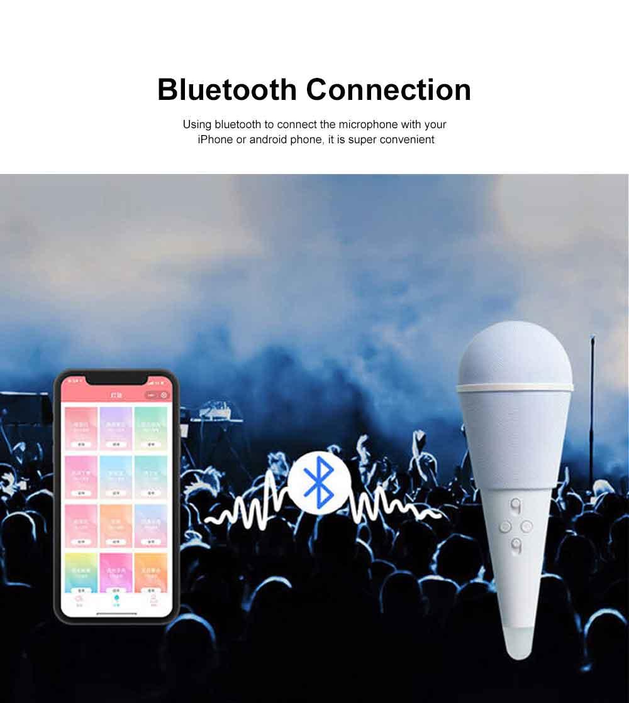 Ice Cream Shape Wireless Microphone Innovative Cute Speaker USB Charge Lightweight Live Microphone 4