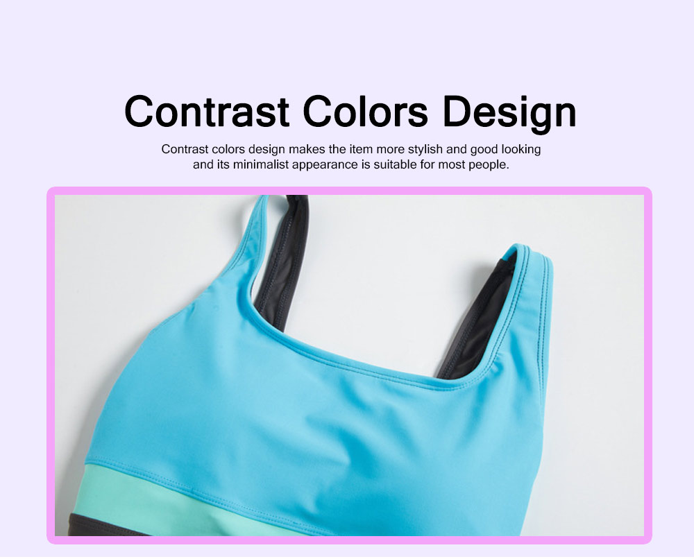 Professional Sexy Contrast Colored Stripes Conjoined Ladies Swimwear Minimalist Detachable Pads Smooth Swimsuit for Women 6