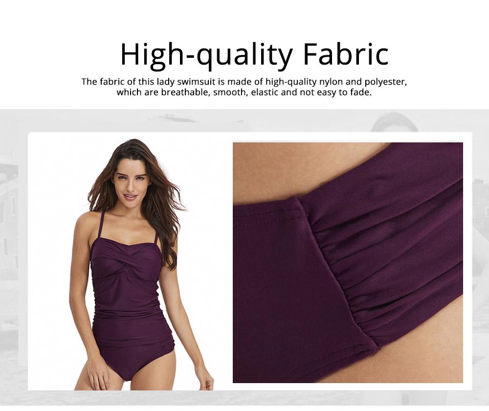 Minimalist Stylish Pure Color Slim Fit Ladies Separates Swimwear Smooth Soft Quick Dry Swimsuit Bikini for Women 1