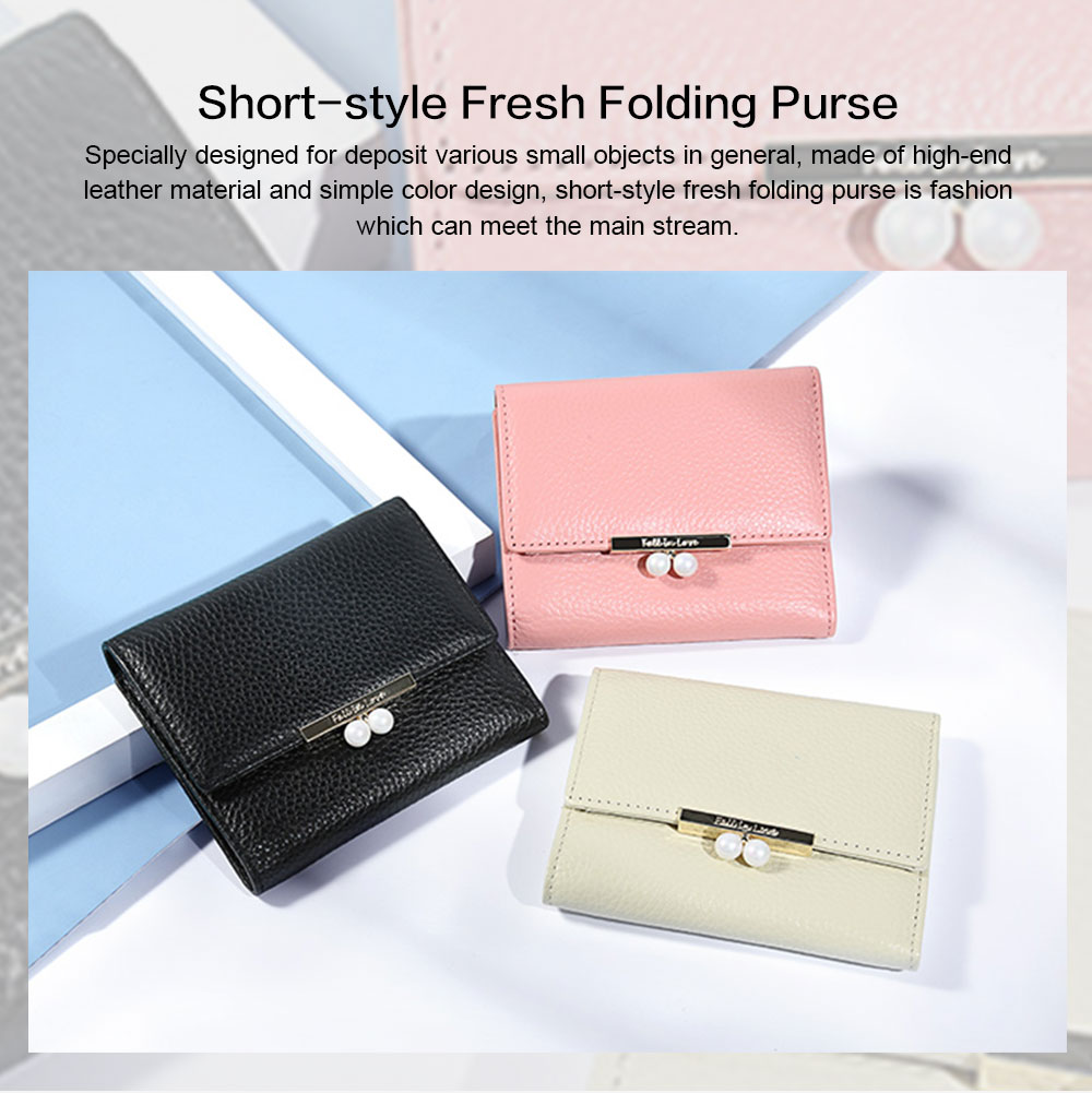 2019 New Designed Women Purse New Designed INS Purse Short-style Fresh Folding Purse for Women Lady Girl 0