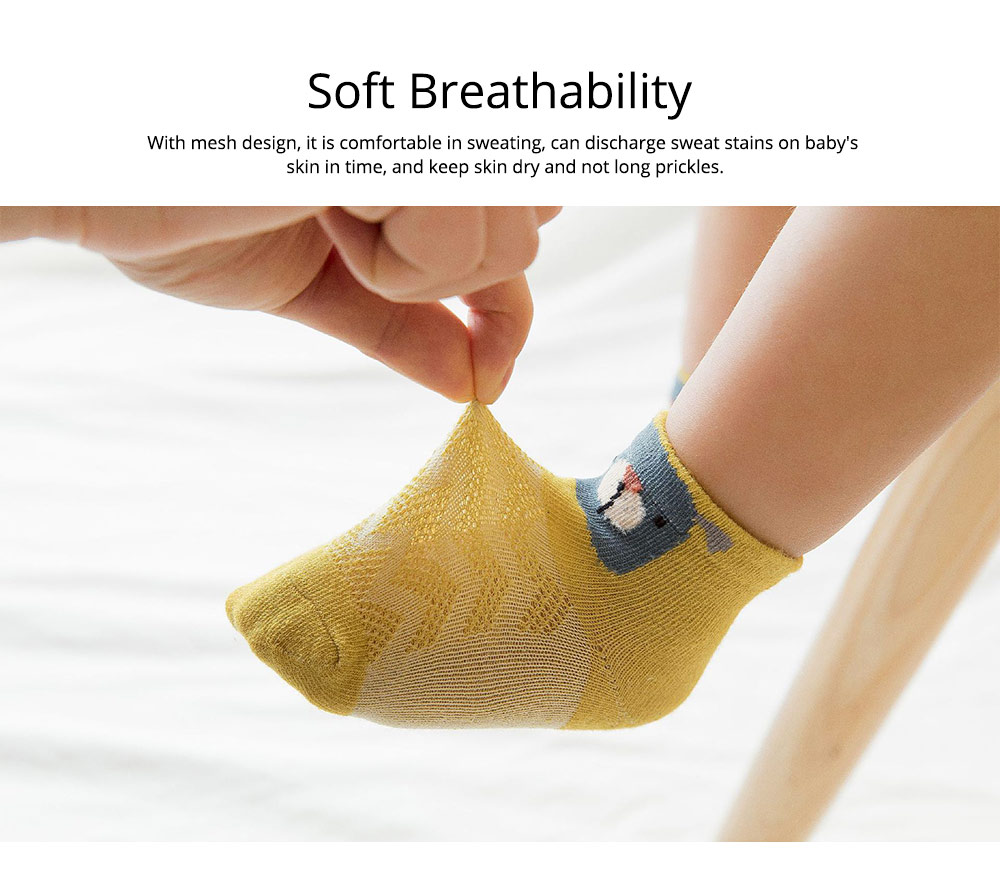 Spring and Summer Mesh Baby Socks Cartoon Breathing Thin Baby Socks, Loose-mouthed Neonatal Socks for 0-1 Year Baby 1