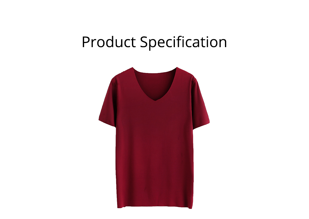 Summer Quick-drying Ice Silk T-shirt for Men, Men's Short Sleeve Leisure Self-cultivation V-neck Quick-dry Undercoat 6