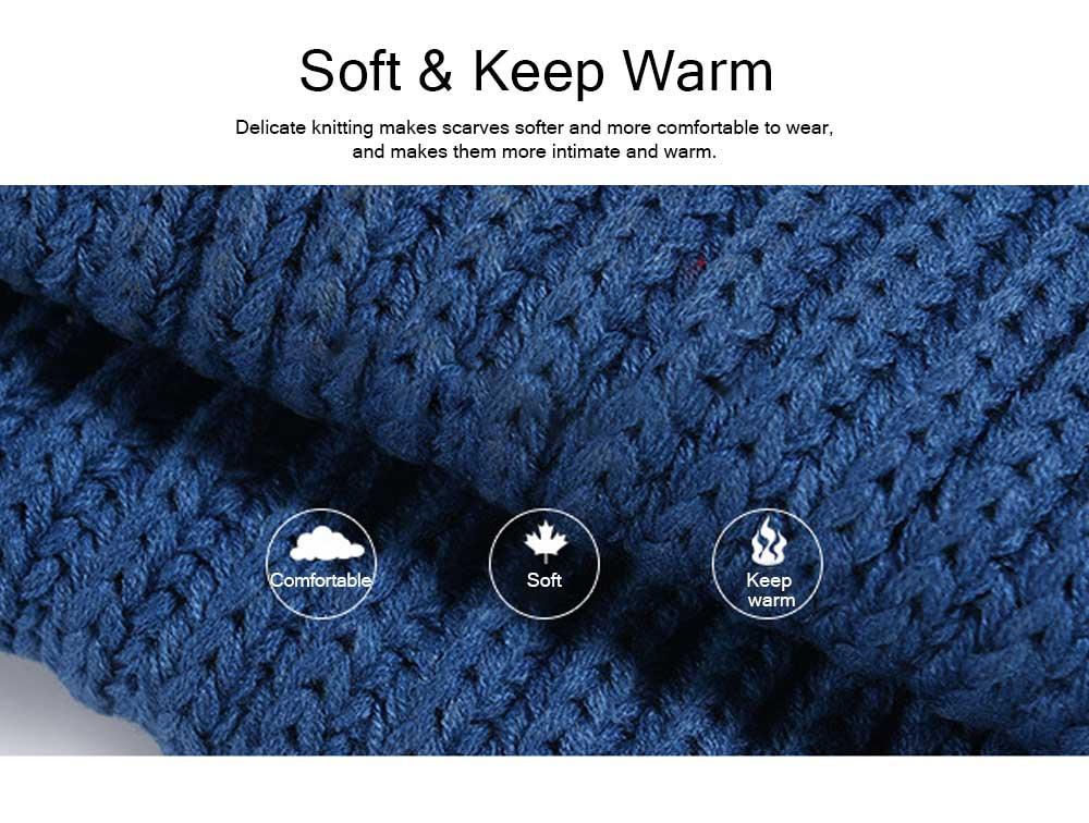 New Wool Scarf Soft Tippet Longitudinal Knitting for Women Men Keep Warm Skin-friendly Muffler Winter 3