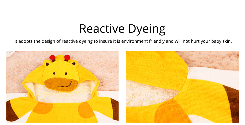 Cartoon Towel for Baby Reactive Dyeing Car Line Neat Bath Product No Odor Soft Comfortable Children's Cloak 1