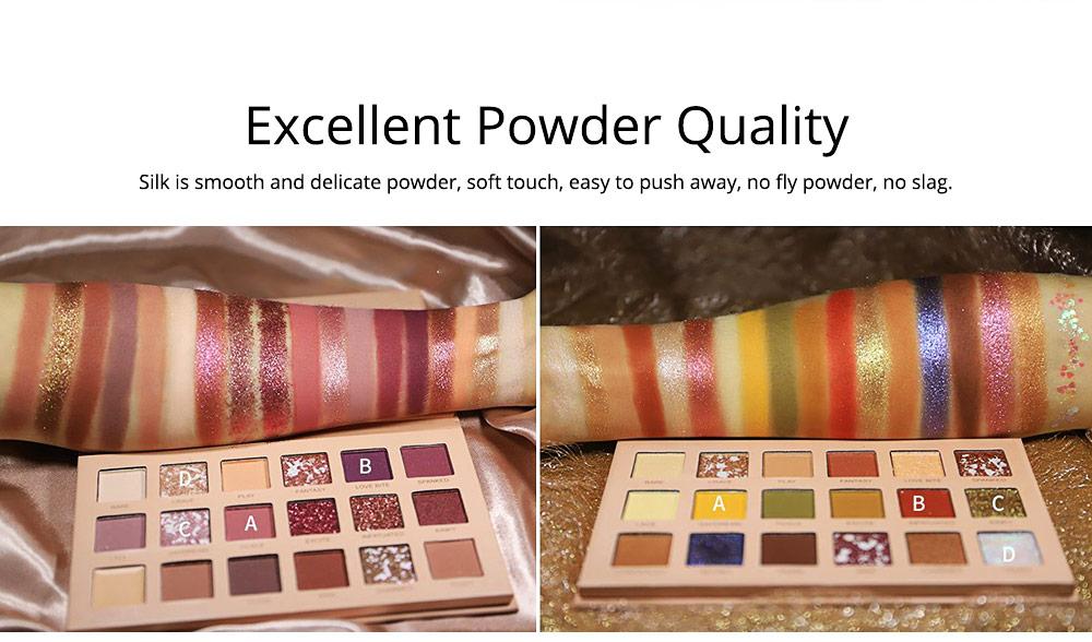 18 Color Desert Rose Eye Shadow Disc, Matte Pearlescent Eye Shadow Disc for Students Beginners Popular Makeup Tool Eyeshadow 4