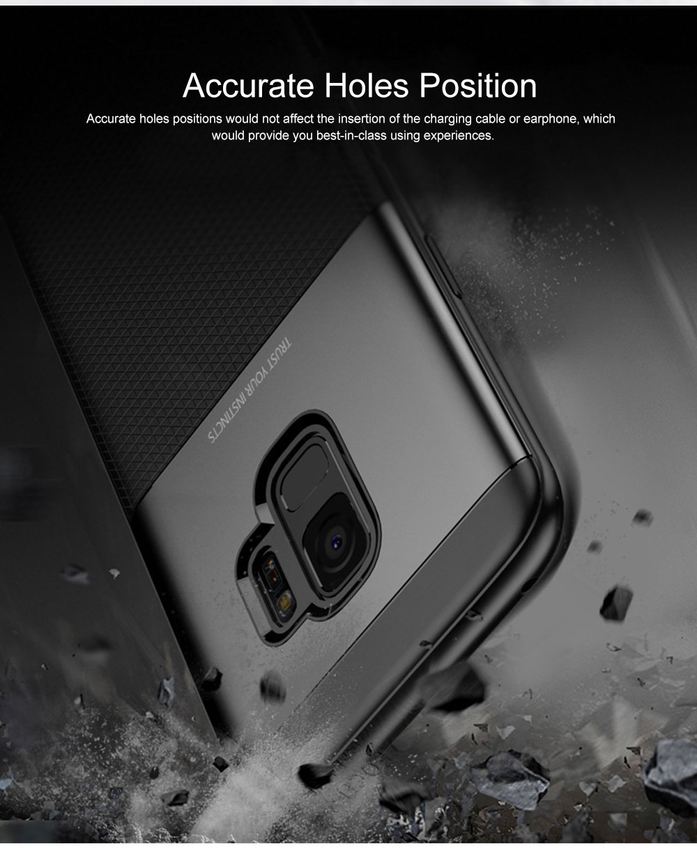 Quality TPU PC Carbon Fiber Sanded Phone Case for Samsung Galaxy S9 plus, Tough Skin-friendly Samsung S9 Mobile Phone Protective Back Cover 5