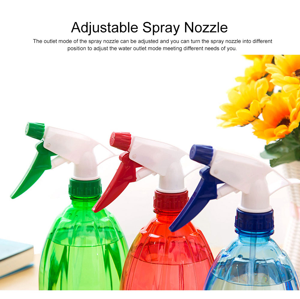 Minimalist Transparent Candy Color Hand Pressure Sprayer, Solid PP PVC Handheld Trigger Pump Watering Bottle 2