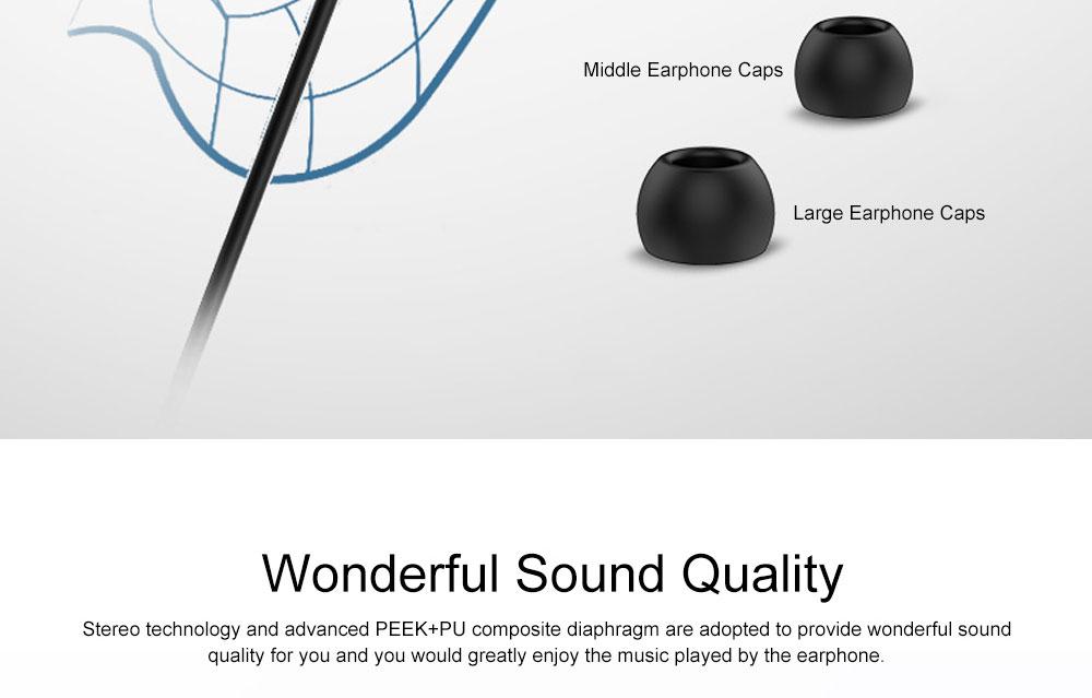 Quality Minimalist Mega Bass HIFI Music In-ear Earphone, Solid Metal Wired Earphone with Three Size Ear Caps 3