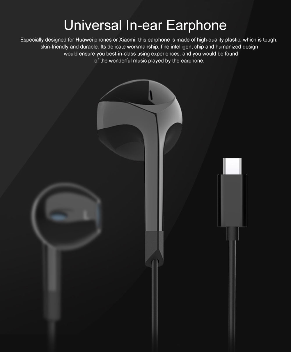 Quality Type-c Huawei P20 pro Xiaomi 8 se Wired In-ear Earphone, Delicate Mega Bass Denoise Wired Ear phone for Android Smart Phone 0