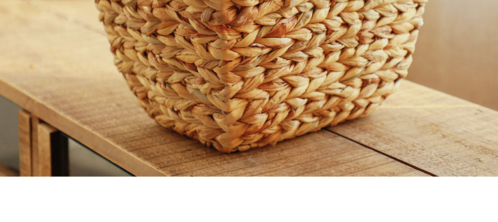 Creative Minimalist Garden Straw Weaving Flower Basket, Delicate Rattan Weaving Storing Basket Decoration with Double Handle 6