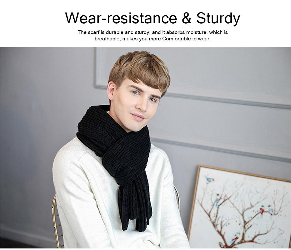 New Wool Scarf Soft Tippet Longitudinal Knitting for Women Men Keep Warm Skin-friendly Muffler Winter 7