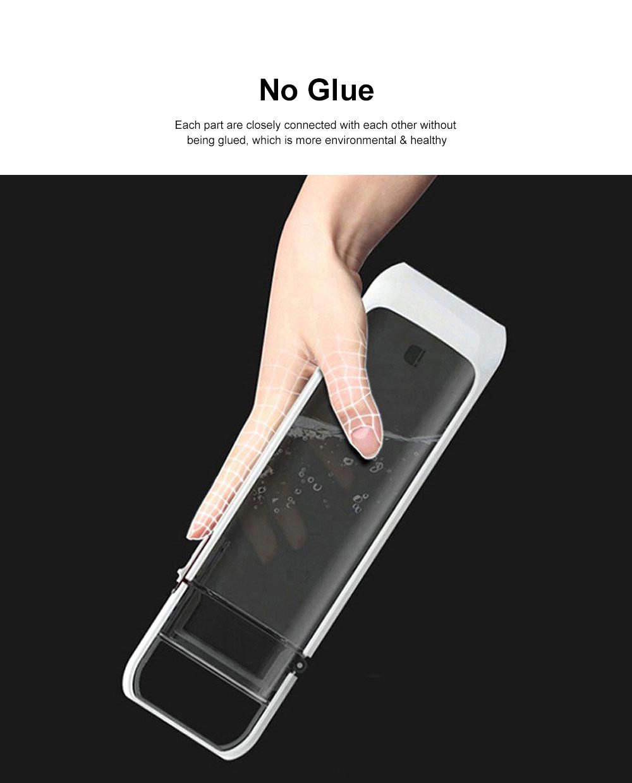 Portable Creative Transparent Water Bottle for Running Walking Hiking, Food Grade BPA Free PC Multifunctional Hand Bottle 3