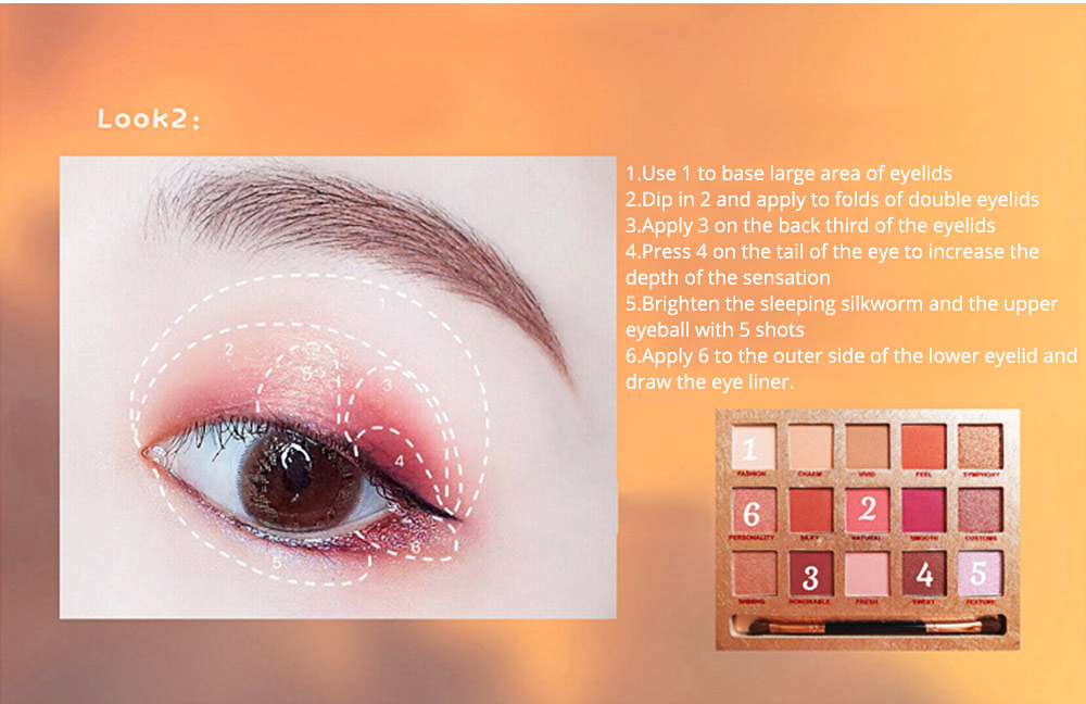 Cosmetics 15 Color Eye Shadow Plate Ins Red Man Or Tictok Recommended Eye Shadow Makeup For Beginners 10