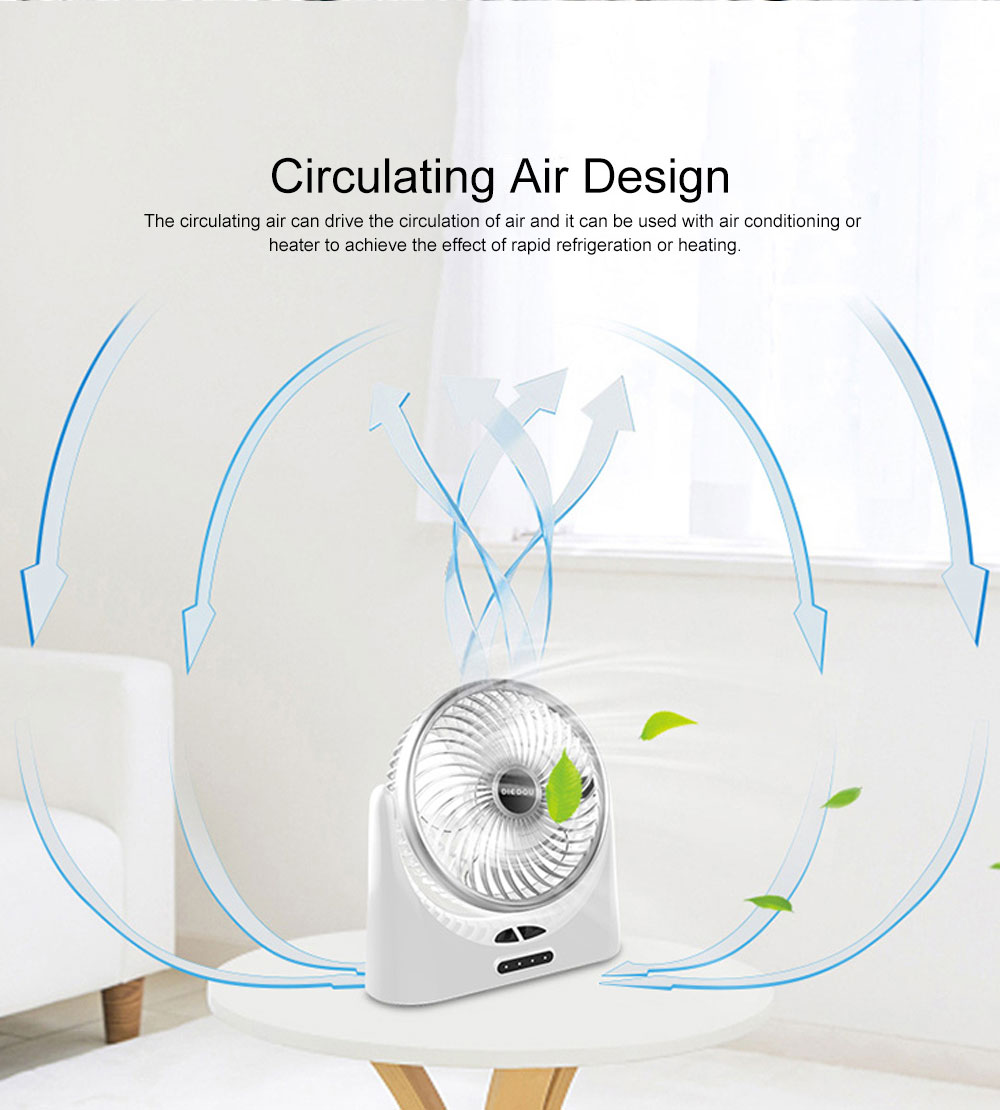 Portable Mini Chargeable Silence Table Cooling Fan Household Office Dormitory Rotation Circulation Fan 2