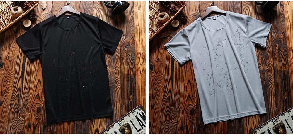 New Men's Short Sleeve T-shirt in Summer of 2019 Creative Waterproof and Antifouling Trend T-shirt 7