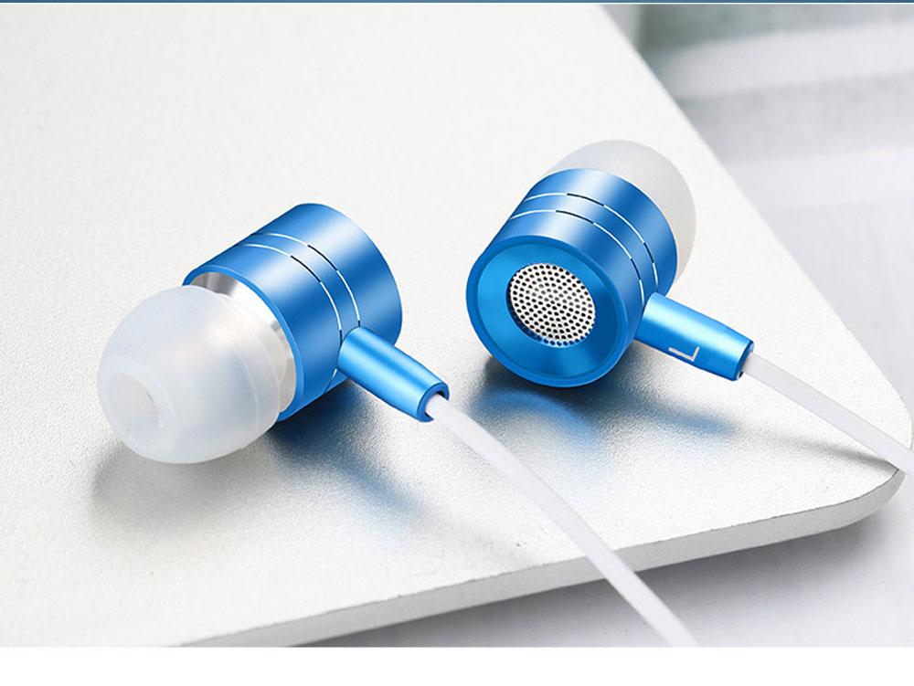 Quality Minimalist Mega Bass HIFI Music In-ear Earphone, Solid Metal Wired Earphone with Three Size Ear Caps 11