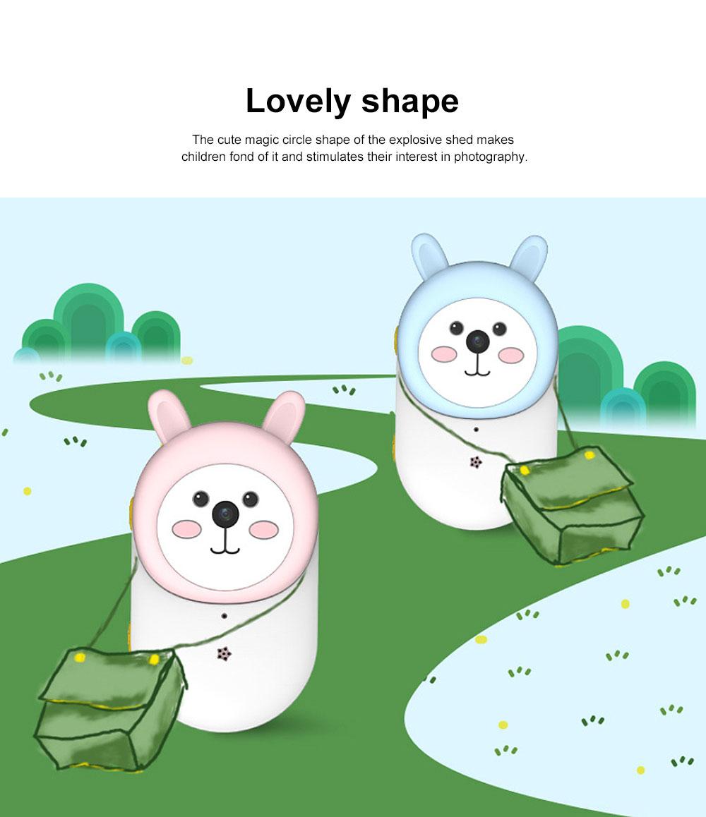 Cute Rabbit Magic Eyes Childrens' Wifi HD Camera 2.4 Inch Wifi-Connected New 2 Lens 800W HD Kids Camera 1