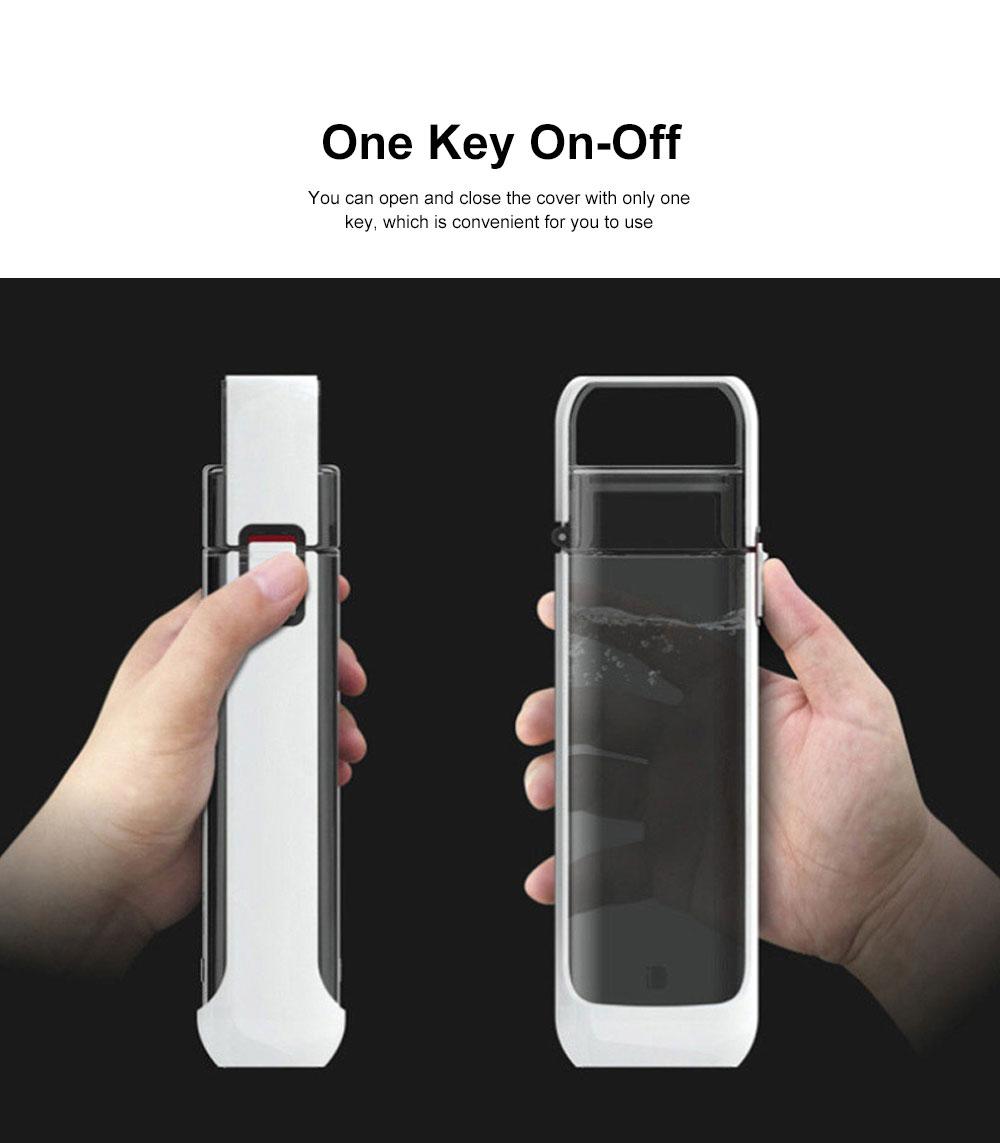 Portable Creative Transparent Water Bottle for Running Walking Hiking, Food Grade BPA Free PC Multifunctional Hand Bottle 2