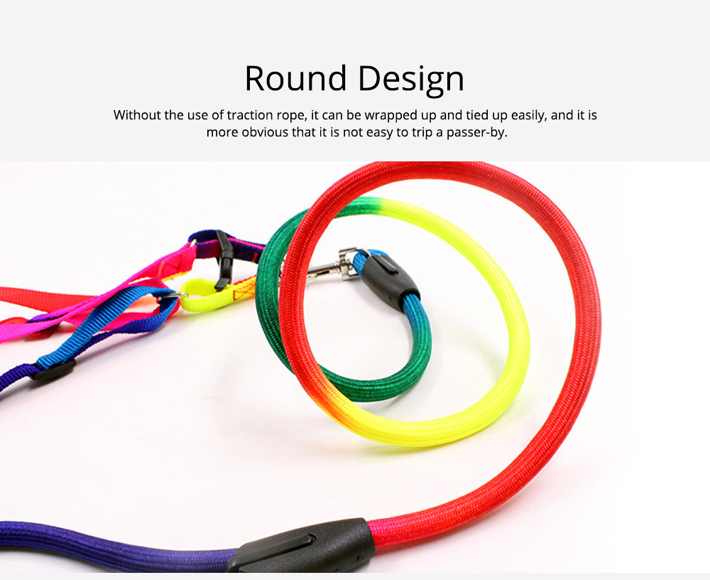 7-colour Chest Back Traction Rope For Dogs Round Dog Chain Pet Products 3