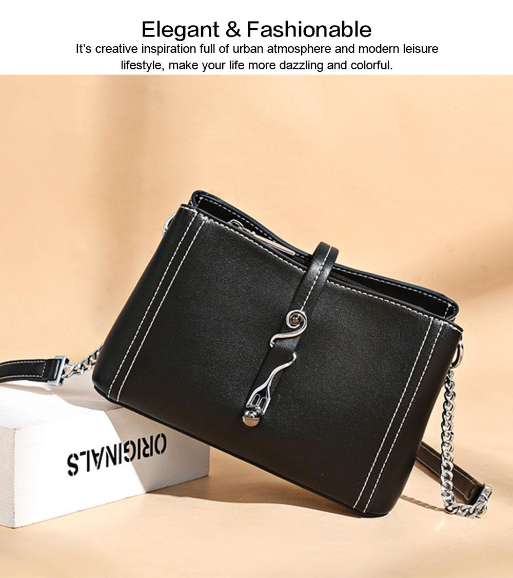 2019 New Fashion Chain Women Cross shoulder Bag Korea-style Contracted Sling Bag  Personality Fashion handBag 2