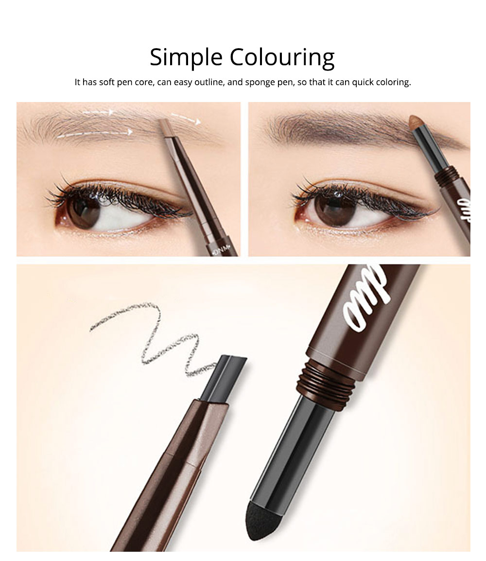 2 In 1 Eyebrow Pencil And Eyebrow Powder, Eyebrow Pencil Powder With Automatic Rotation Waterproof And Sweat-proof 1