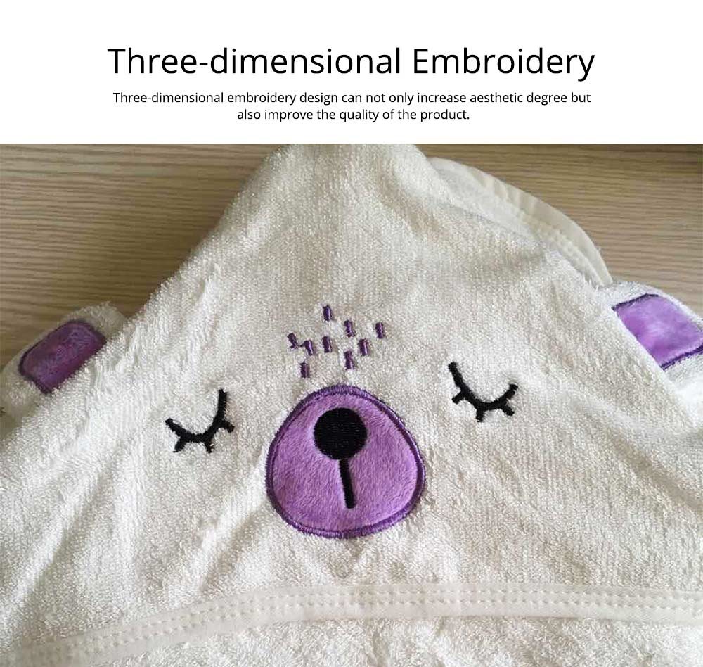 Printing and Dyeing Bath Towel for Baby, Environment Friendly Multi-function Three-dimensional Embroidery Bathroom Ware 3