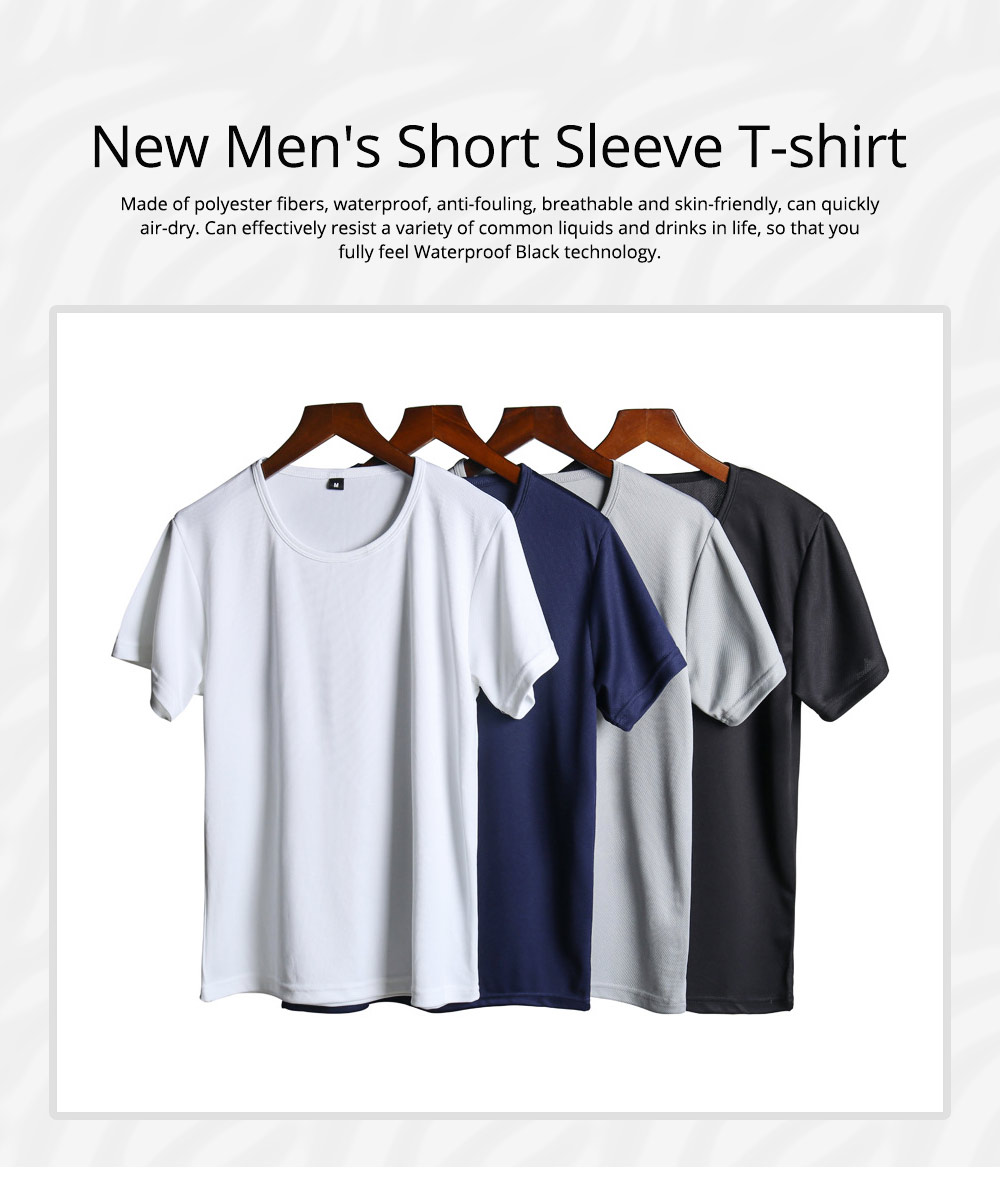 New Men's Short Sleeve T-shirt in Summer of 2019 Creative Waterproof and Antifouling Trend T-shirt 0