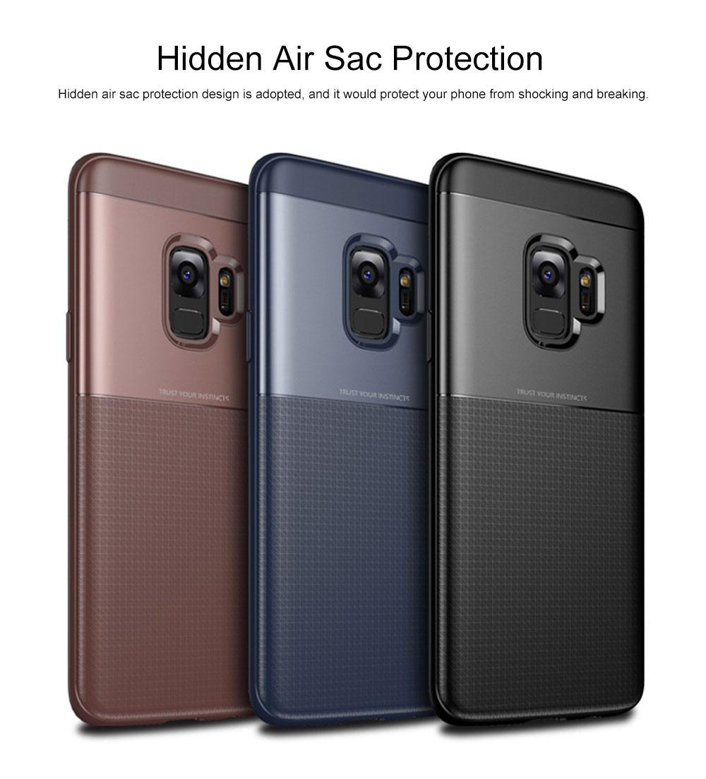 Quality TPU PC Carbon Fiber Sanded Phone Case for Samsung Galaxy S9 plus, Tough Skin-friendly Samsung S9 Mobile Phone Protective Back Cover 3