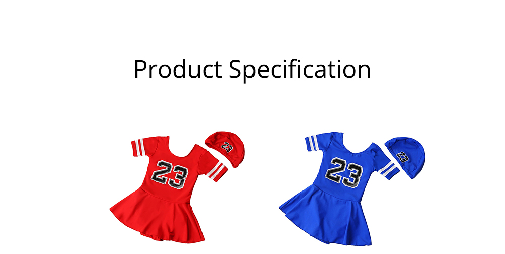 One-piece Swimming Suit for Girls Round Collar Comfortable Lining Multi-size Design Polyvinyl Chloride Fiber Bathing Suit 6