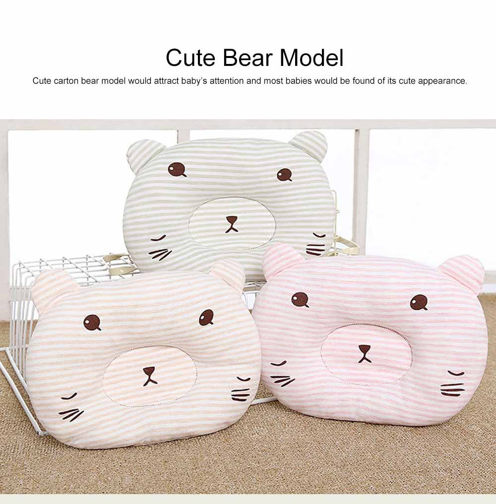 Cute Bear Model Anti-Roll Newborn Infant Pillow Skin-friendly Breathable Colored Cotton Prevent Flat Head Baby Sleep Cushion 6