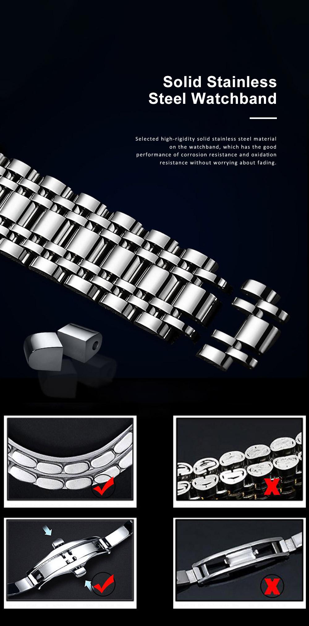 Men's Quartz Watch Multifunctional Waterproof Wrist Watch Scratch Proof Fashion Accessory Watch 4
