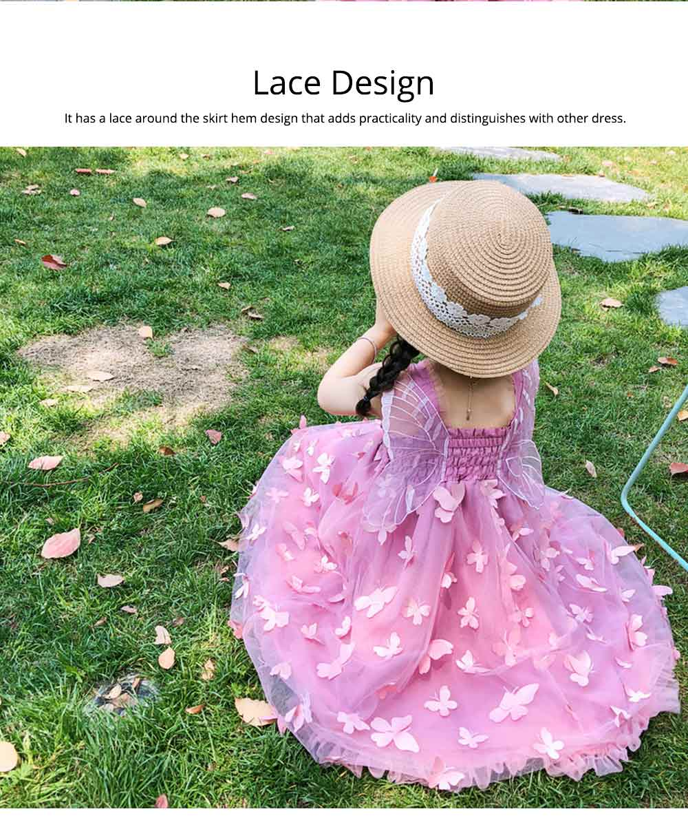 2019 Three-dimensional Lace Butterfly Dress for Girl Summer Party Dress Performance Costume & Butterfly Wings 2