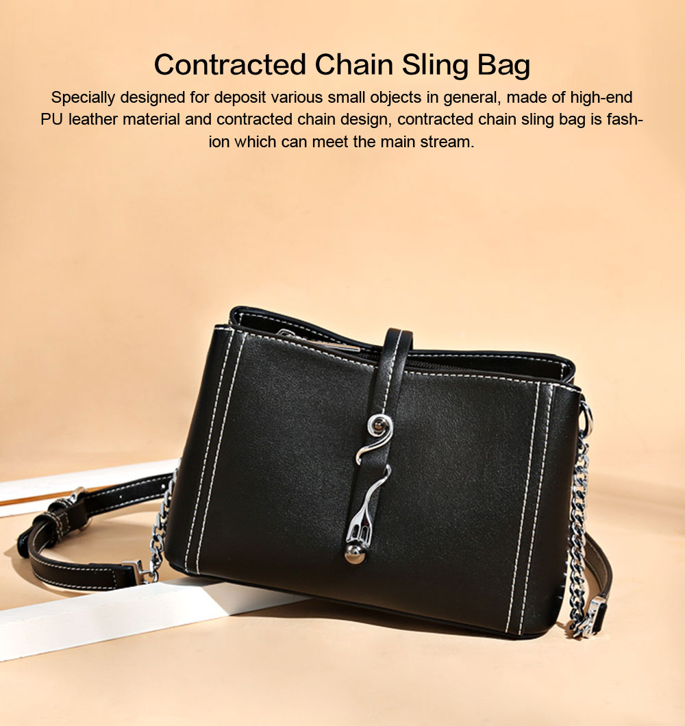 2019 New Fashion Chain Women Cross shoulder Bag Korea-style Contracted Sling Bag  Personality Fashion handBag 0
