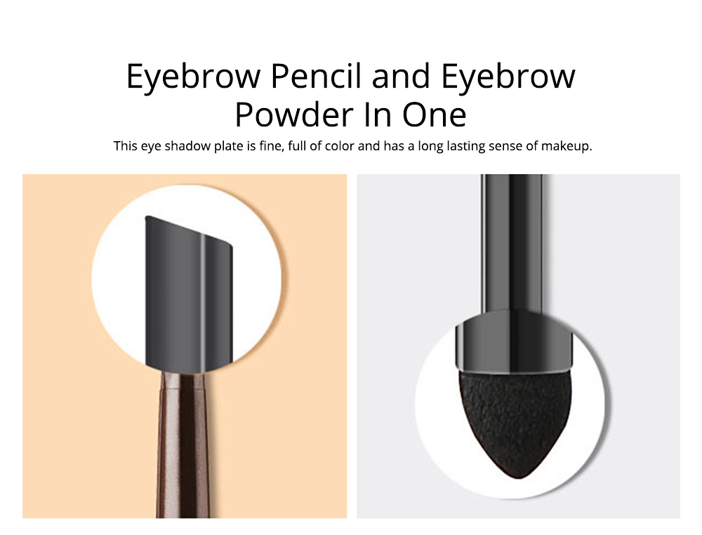 2 In 1 Eyebrow Pencil And Eyebrow Powder, Eyebrow Pencil Powder With Automatic Rotation Waterproof And Sweat-proof 3