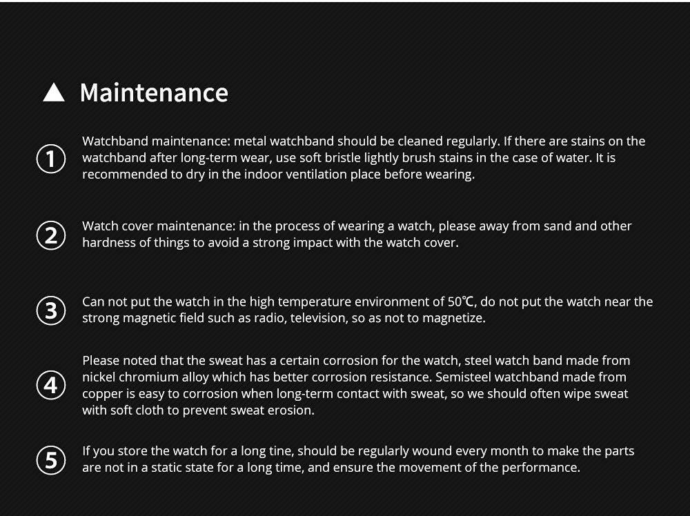 Mechanical Style Men's Quartz Watch Waterproof Businessman Watch Fashion Accessory 3 Dial Plates 6 Pointers Wrist Watch 8