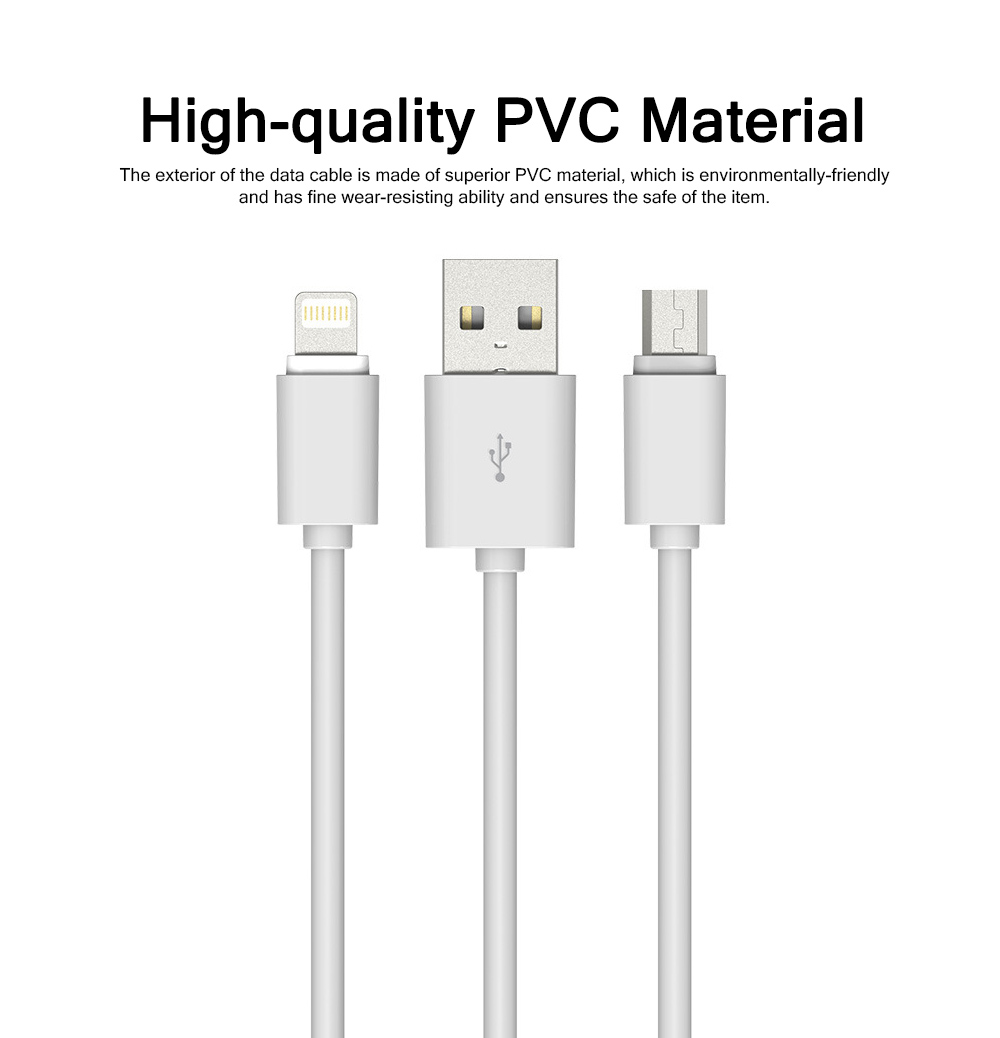 2M Micro USB Android iPhone PVC Rubber Data Cable Accurate Fit Speed Transfer Mobile Phone Data Wire 1