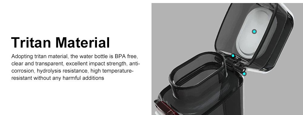 Portable Creative Transparent Water Bottle for Running Walking Hiking, Food Grade BPA Free PC Multifunctional Hand Bottle 6
