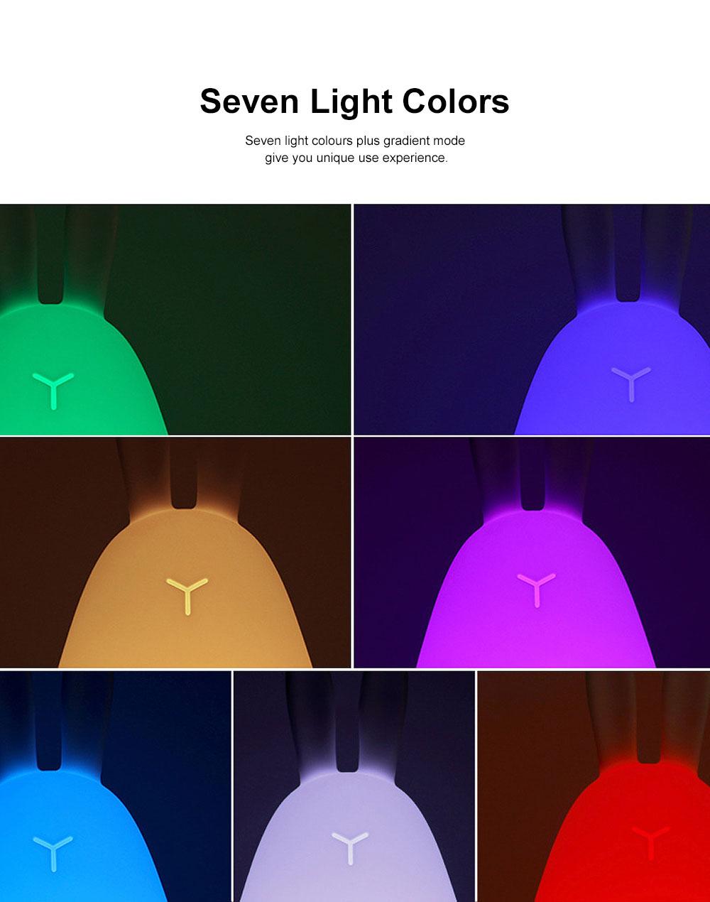 LED Induction Colorful Silicone Night Lamp Creative USB Rabbit Novelty Night Light Rabbit Slap Lamp Multi 7 Colors 2